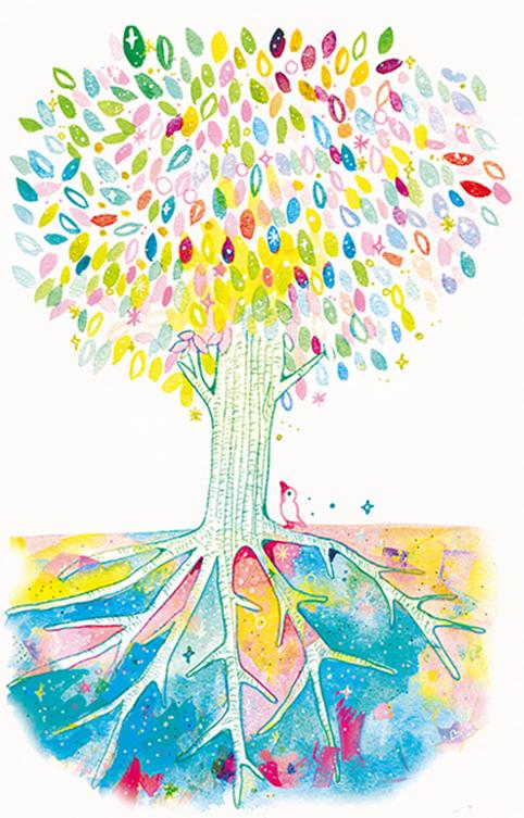 樫の木のイメージイラスト